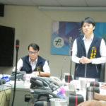 台中市府法治局長李善植(圖右),特別嘉許調解委員為地方法務服務的付出,並慰問調解委員的辛勞。